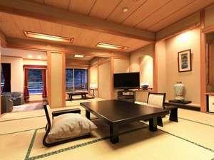 最上階露天風呂特別室〈蒼景〉一番人気のお部屋タイプです。