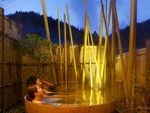三つの貸切温泉は「無料で何度でも」ご利用できます。一番人気の貸切温泉「月乃湯」☆