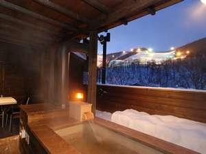 朝里川温泉スキー場を眺めながら、ごゆっくり湯浴みをお楽しみ下さい♪