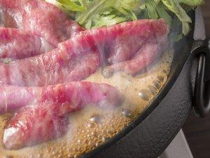*お食事グレードアップ!上州牛すき焼き(イメージ)