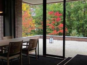 鮮やかな色彩に包まれる秋の定山渓で。紅葉を眺めゆったりお過ごしくださいませ。