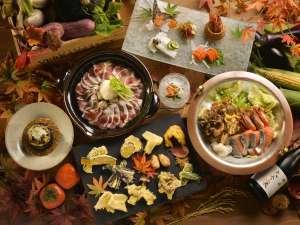◆秋の恵みバイキング/実演天ぷらや、二種の和鍋、季節の魚介を楽しめるメニュー