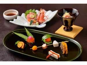 季節の会席【冬】料理の一例です