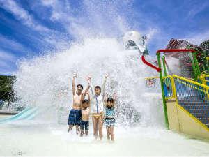【プール】〔WATER FORT〕 頭上で放たれる「2万トンの水」は歓声必須!