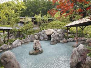 【延羽の湯 野天閑雅山荘】岩風呂