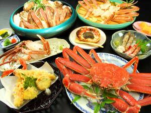 香住産松葉ガニをボイルにして丸々1杯付!イチオシ蟹フルコース♪様々な調理法で蟹の旨味を引き出しました
