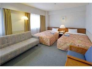 ツイン ソファ付 ゆったりと寛げる28㎡。ソファベッドご利用で3名様までのご宿泊が可能です