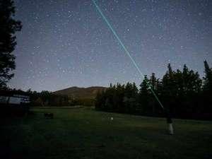 【雫石銀河ロープウェー】夜風の中で星空観察。