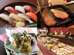 ■バイキング■稀少!天然本鮪寿司&極選牛ステーキ&揚げたて天ぷらなどなど食べ放題♪