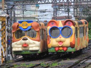 【ミケとブルのケーブルカー】見て嬉しい、乗れて楽しい♪観光にご利用ください。