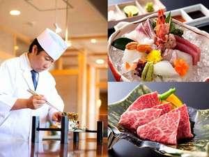 「造里五種盛り」旬の魚を醤油だけでなく塩やスダチで◎和歌山ブランド牛「熊野牛石焼き」/赤間料理長