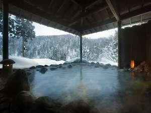 露天風呂の四季折々~雪景色~