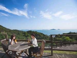 【展望ウッドテラス】瀬戸内海の多島美を眺めながら贅沢な時間をお楽しみください♪