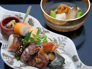 『前菜と長芋素麺』