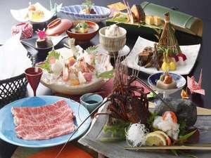 近江牛と伊勢海老の会席料理