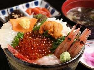 【追加料金で…】 函館朝市から海鮮丼がお部屋に届きます (メニュー一例)