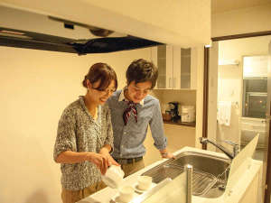 全室キッチン完備。観光地、函館で暮らすような滞在を。