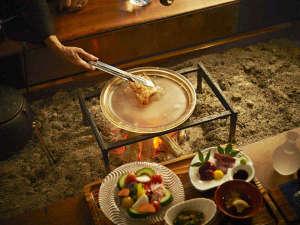会津地鶏の水晶版焼