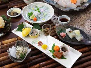 天然九絵(クエ)料理