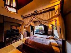 大人気!限定3部屋!プライべート露天風呂付き和洋室♪和にバリのテイストを加えた癒し空間。