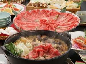 【名産但馬牛すき焼き】肉の美味しさをご堪能下さい♪(画像はイメージです)