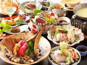 【秋の収穫祭イメージ】松茸や四万十ポークなどお楽しみいただける秋限定の会席料理。