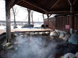 太古の植物の恵が茶褐色の湯となりトロトロ湧き出る、植物性モール温泉。