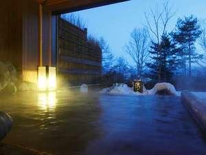 【古の湯】半露天風呂雪景色
