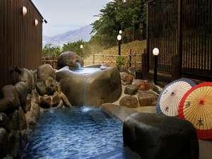 蔵王連峰を望む露天風呂 玉うさぎ outdoor-bath TAMAUSAGI