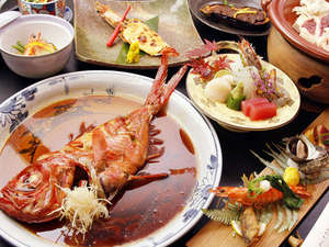 【金目鯛×鴨鍋】山海の宴 飛鳥~asuka~(写真の金目鯛、鴨鍋は2人分の内容です)