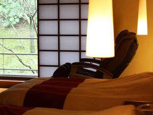 和洋特別室 南館客室にマッサージチェアーをご用意しております。ごゆっくりお過ごし下さいませ。