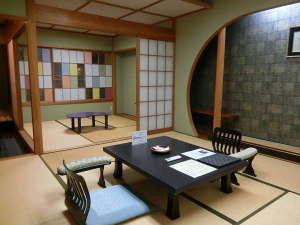 大正ロマン風和室8畳+4.5畳(洗面+トイレ付)眺めよい川側※写真は一例