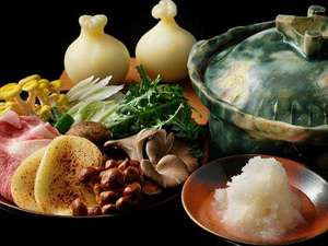 【冬の特別会席】和牛や冬野菜を、大根おろしたっぷりの滋味スープで食べる「山のみぞれ鍋」