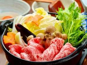 【ご夕食】黒毛和牛のすき焼きコース一例