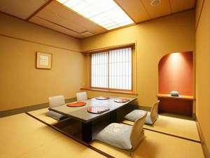 食事処 一例~完全個室です。夕食、朝食はこちらで。確約プランをご利用ください。