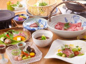 日本三大和牛の一つ近江牛料理を満喫できる「近江牛づくし」。全品に日本の「近江牛」を使ったコース料理