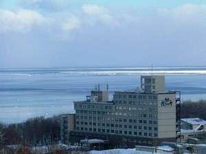 ◆オホーツク海側のお部屋からは、運が良ければ流氷を見ることができます(流氷時期)。