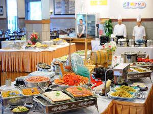 夕食バイキング例・十勝・道内の食材をふんだんに使用したバイキング(イメージ写真)