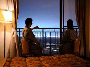 洋室(デラックスツインルーム)からの眺望例タウンビュープランで眺望確約も可能です。