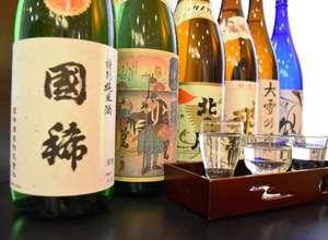 北海道の銘酒を6種類集めました。自分の好きなお酒をチョイ飲み出来ますよ!!