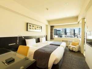 【ツイン】ツインルームはベッドが2台並ぶハリウッドツインタイプのお部屋(写真は一例です)