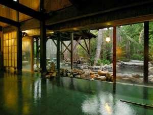 【大浴場:内湯】箱根の風情漂う造り