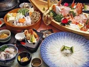 若狭ふぐ料理 松コース ふぐとともに新鮮海の幸を満喫できます。