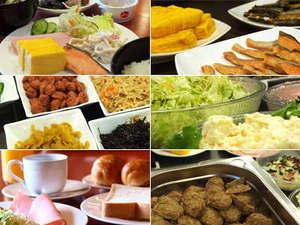 種類豊富な無料朝食バイキングam6:30~am9:00