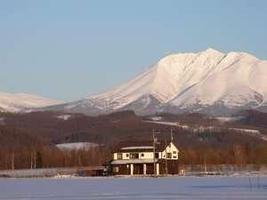 十勝岳連峰を望む絶好のロケーション