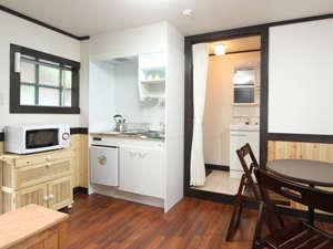 ホテル・モルゲンロートの客室には簡単な自炊設備を設けています。