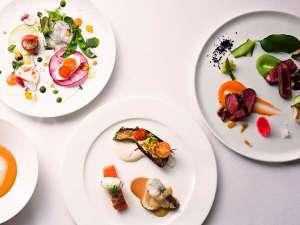 【ある日のご夕食】コース内容はその時期の旬な食材によって変わります。