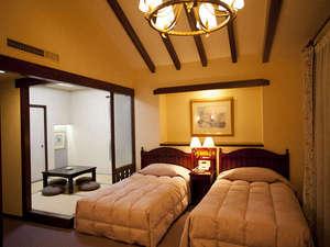 ゆったりとした和洋室 【2ベッド+和室4.5畳】約40㎡