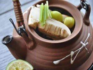 夕食一例【料理フェア】松茸土瓶蒸し