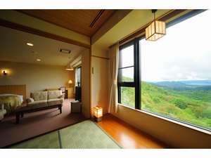 【和洋特別室】広めの客室から田沢湖一望